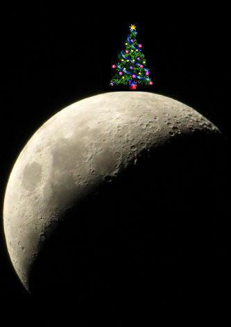 La luna de navidad...