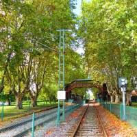 Una estación de tren en tiempos de otoño...